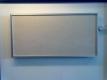 Elbo-therm Stein-Infrarot-Heizung, Dekor FUSION CREAM, mit Alurahmen silber oder schwarz, 60 x 60 cm, 400 W