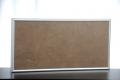 Elbo-therm Stein-Infrarot-Heizung, Dekor STYLE BROWN, mit Alurahmen silber oder schwarz, 60 x 60 cm, 400 W